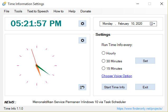 Time Info UI